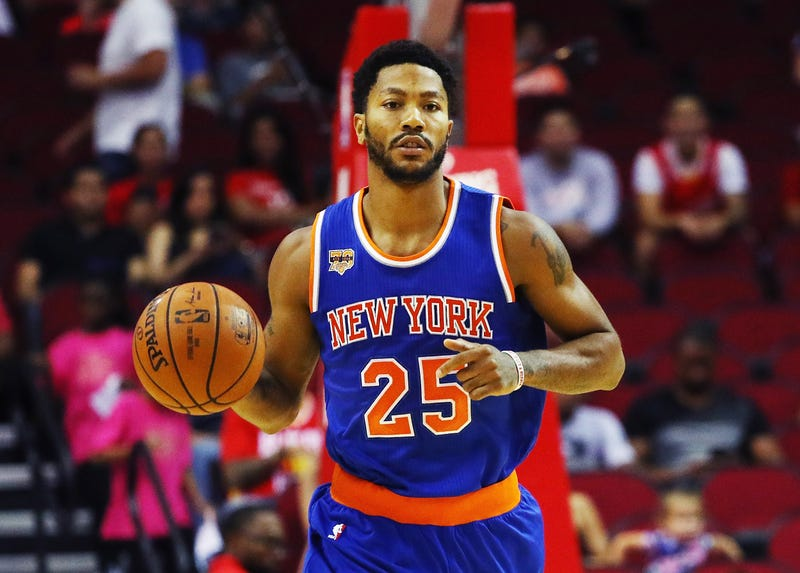 Derrick Rose during a game Oct. 4, 2016, in HoustonScott Halleran/Getty Images)