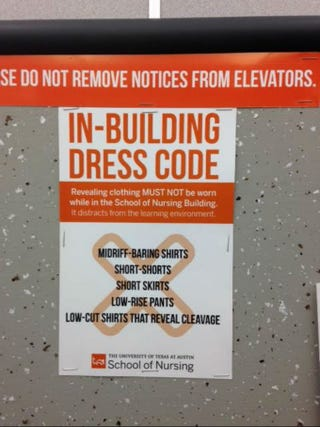 Illustration for article titled University of Texas Says Women's Clothing 'Distracts' From Learning