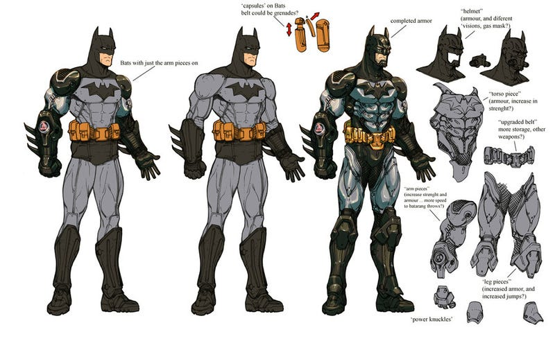 Illustration for article titled Visions of the Dark Knight in unreleased Arkham Asylum concept art