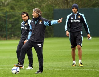 Illustration for article titled If Tevez Doesn't Like It He Can Sod Off, Suggests Mancini