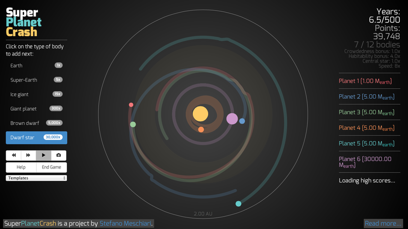 Illustration for article titled A Game That Lets You Build — Or Destroy — Your Own Solar System