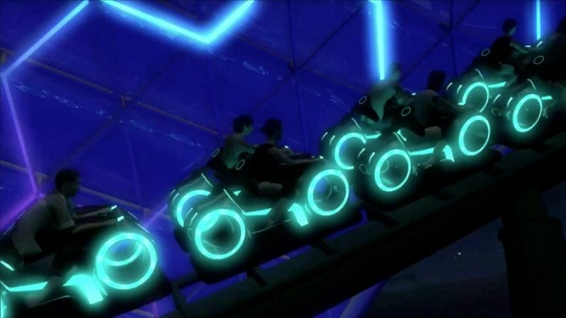 Illustration for article titled Disney's New Tron Roller Coaster Is Absolutely Gorgeous