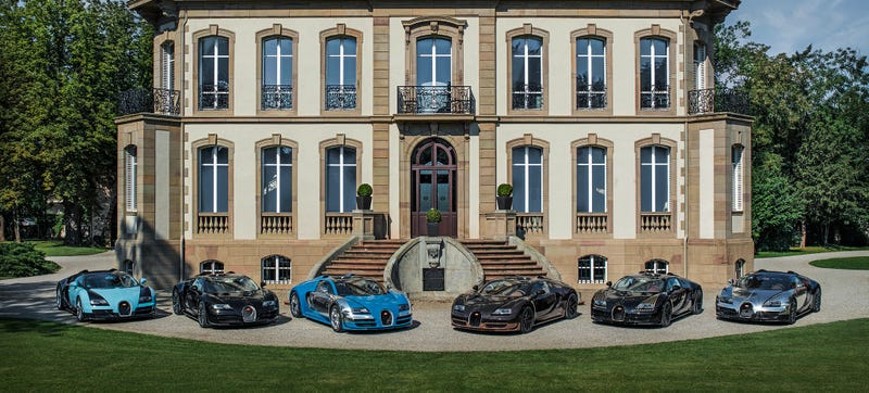 Illustration for article titled The Average Bugatti Owner Has Three Jets, One Yacht, And 84 (!!!) Cars