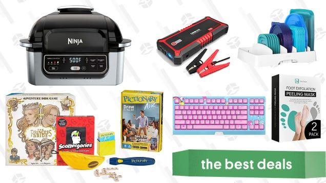 Saturday s Best Deals: Ninja Foodi 5-in-1 Air Fryer, Board Games Sale, Gooloo Jump Starter, YouCopia StoraLid Organizer, Exfoliating Foot Masks, Razer Hello Kitty Keyboard, and More