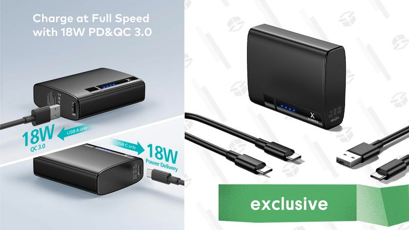 Xcentz 18W USB-C PD 10,000mAh Battery Pack | $15 | Amazon | Use the promo code 546ZMYUH