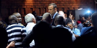 South African Olympic sprinter Oscar Pistorius (AFP/Getty Images)