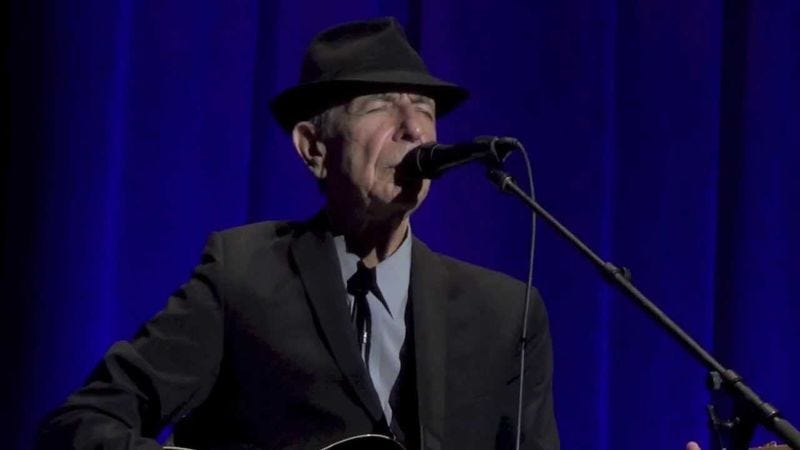 Illustration for article titled Exclusive: Watch a song from Leonard Cohen's new live DVD