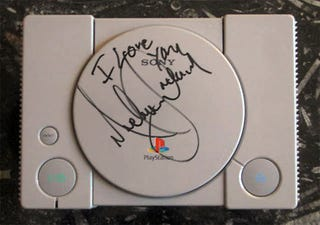 Illustration for article titled This Michael Jackson Signed PlayStation Can Be Yours (For $1.5 Million)