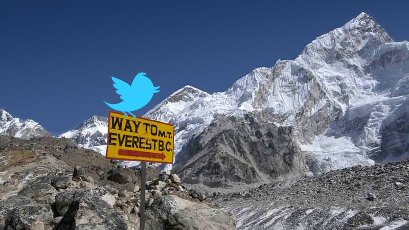 """Illustration for article titled """"Lots Of Dead Or Dying Bodies. Thought I Was In A Morgue"""": A Woman Tweets Her Way Up Mt. Everest"""
