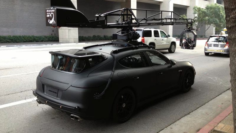 Ilration For Article Led This 160 000 Tail Gunner Porsche Panamera Camera Car Is Surprisingly Cool