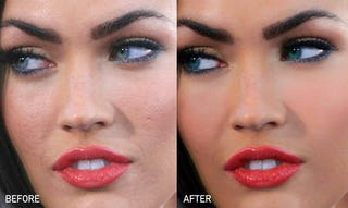Illustration for article titled How Photoshop Transformed Megan Fox