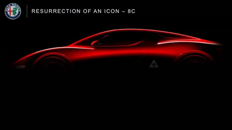Illustration for article titled The Alfa Romeo 8C Might Come Back As A Mid-Engine Hybrid Supercar With 700 HP