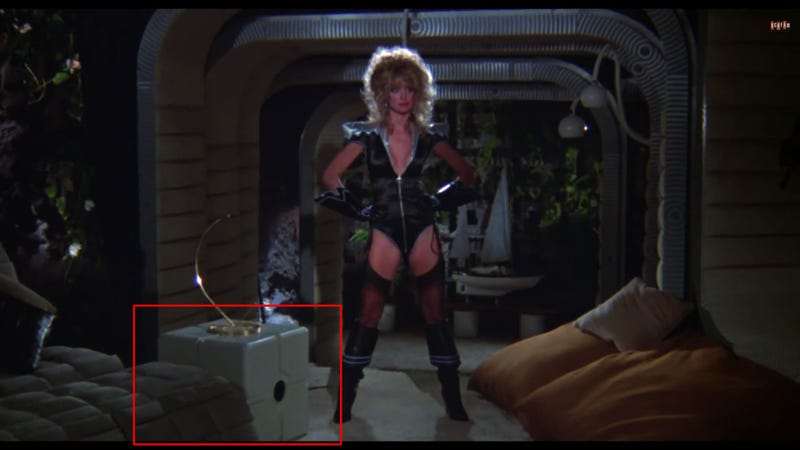 Illustration for article titled Companion Cube In 1980 SciFi Movie Starring Farrah Fawcett?