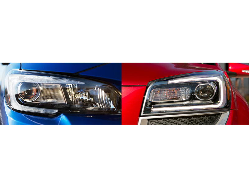 Illustration for article titled Who Does it Better: GMC Acadia or Subaru STi?