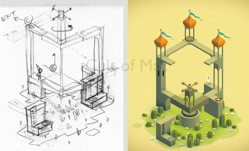 Illustration for article titled A Look At The Monument Valley Sketchbook