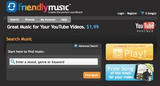 Illustration for article titled FriendlyMusic Lets You Buy Legal, Licensed Tunes For Your YouTube Videos For $2