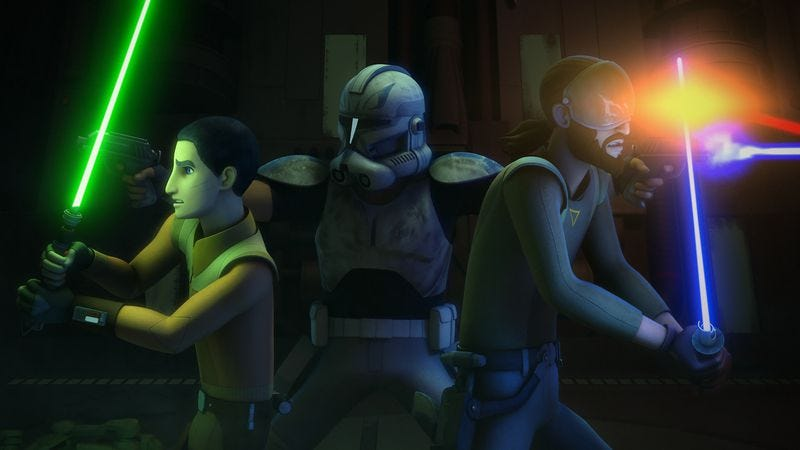 Illustration for article titled Star Wars Rebels' throwback to The Clone Wars is bogged down by a terrible middle