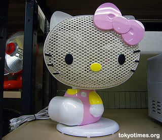 Illustration for article titled Big Head Hello Kitty Fan