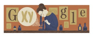 Illustration for article titled I'm not sure Y Nettie Stevens is so Xtremly important as to get her own google doodle...