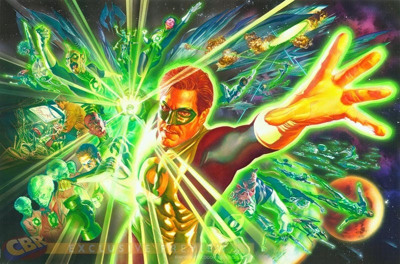 Alex Ross Green Lantern Concept Art Shows How To Make Hal Jordan Look Heroic