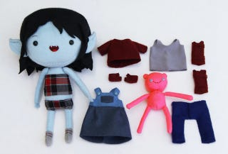 Illustration for article titled We Must Have These Adventure Time Plush Dress-Up Dolls
