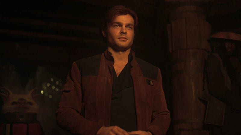 Ehrenreich as the title character in Solo: A Star Wars Story
