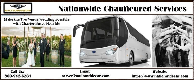 Make the Two Venue Wedding Possible with Charter Buses