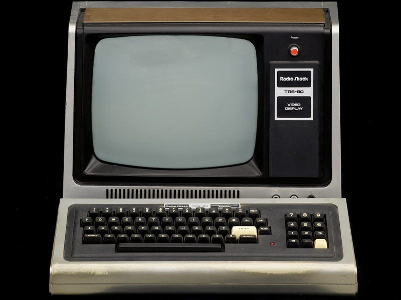 even back then there were computers for people who couldnt afford the more expensive stuff take this tandy which costs little more than a upgraded
