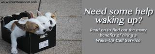 wake-up call service www.courteouscom.com