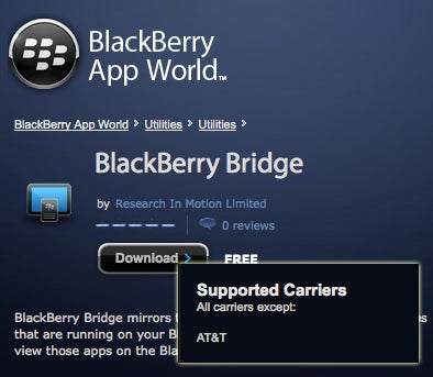 Illustration for article titled AT&T Isn't Letting Users Download BlackBerry Bridge, Here's How to Get It (Updated)
