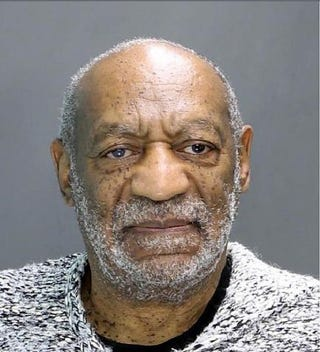 William H. Cosby poses for a mug shot during his arraignment Dec. 30, 2015, in Elkins Park, Pa. Cosby was arraigned at 2:30 p.m. before Magisterial District Judge Elizabeth McHugh and charged with aggravated indecent assault. Bail was set at $1 million under the condition that he surrender his passport and have no contact with the victim. Cosby was released after posting $100,000.Montgomery County, Pa., District Attorney's Office via Getty Images