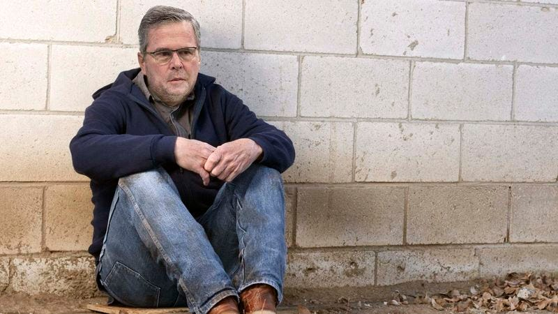 Illustration for article titled Demoralized Jeb Bush Succumbs To New Hampshire Heroin Epidemic