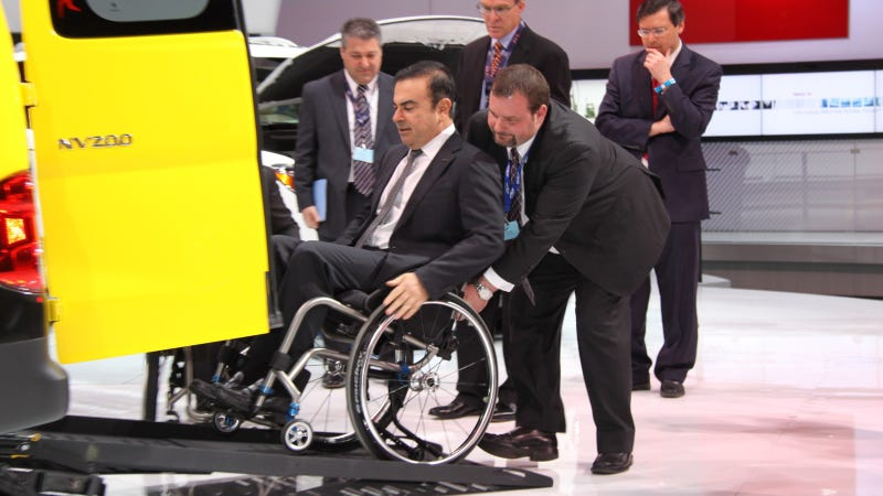 Illustration for article titled Nissan Finally Unveils Wheelchair-Accessible Cab