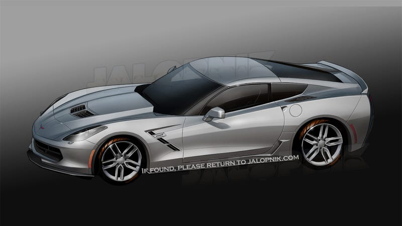 Illustration for article titled 2014 Corvette: First Photos