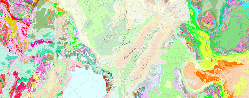 Illustration for article titled Your New Desktop Wallpaper: A Fetching Geological Map Of The Arctic