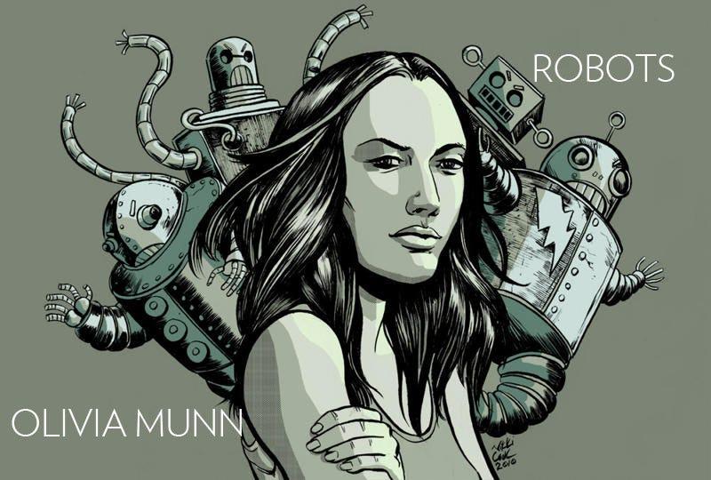 Illustration for article titled Olivia Munn Battles the Green Robots
