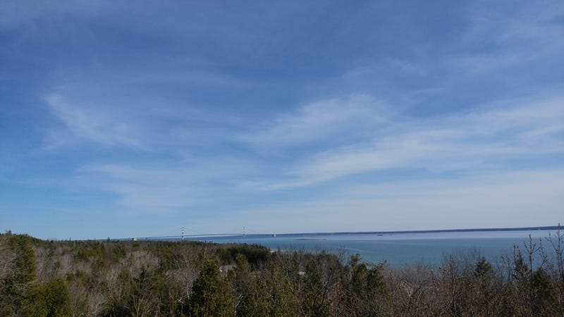 That's Mackinac bridge in the distance