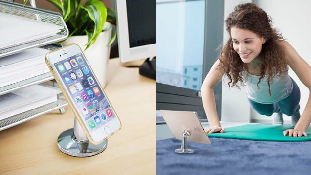 975a59f97ef7 You probably already own a magnetic smartphone car mount, and thus have a  magnetic plate behind your phone at all times. Now, Bestek s magnetic desk  mount ...