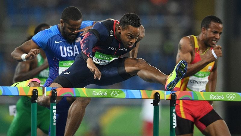 Illustration for article titled True Sportsmanship: This Olympic Track Athlete Let His Competitors Know Every Time A Hurdle Was Coming Up So No One Would Trip