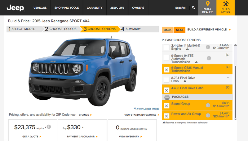Illustration for article titled How You'd Option Your 2015 Jeep Renegade