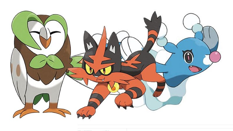 Heres What The Evolutions Of Pokémon Sun And Moons Starters Look Like