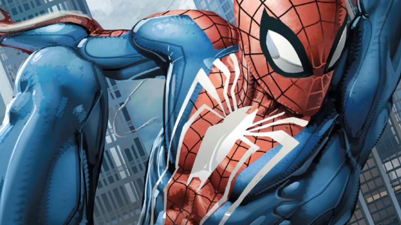 The Spider-Man of, err, Marvel's Spider-Man swings into comic book action.