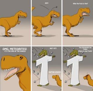 Illustration for article titled Believe in Raptor Jesus