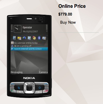 Illustration for article titled Nokia N95 8GB Version on Nokia's Site