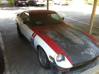 Illustration for article titled For $5,000, This Turbo 240Z Does a Striptease