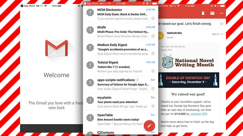 Illustration for article titled Gmail for iPhone Gets a New Look, Swipe Gestures, Undo Send, and Improved Search