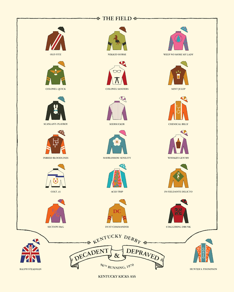 Illustration for article titled Hunter S. Thompson's Kentucky Derby Classic Makes An Awesome Poster