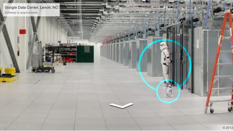 Illustration for article titled Look at This Imperial Stormtrooper at Google's Data Center