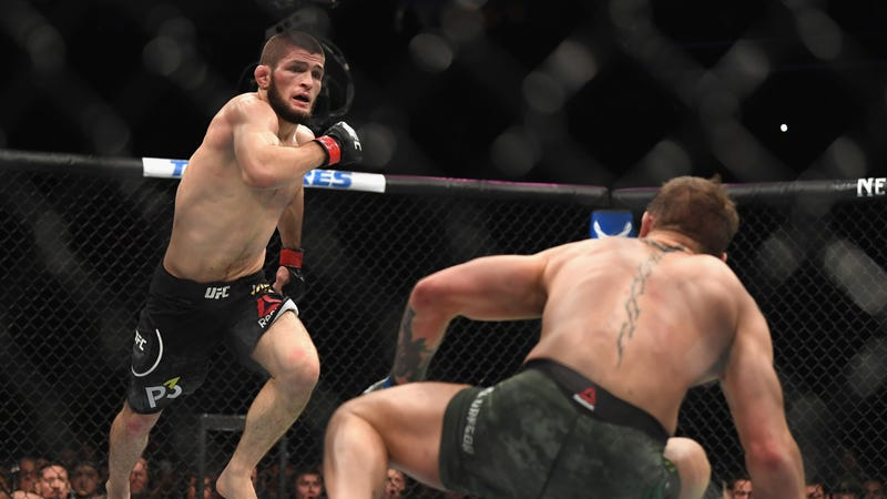 Illustration for article titled Khabib Nurmagomedov Threatens To Quit UFC If His McGregor-Attacking Buddy Is Fired