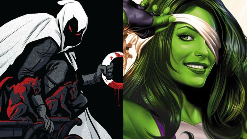 Disney+'s newest stars, Moon Knight and She-Hulk